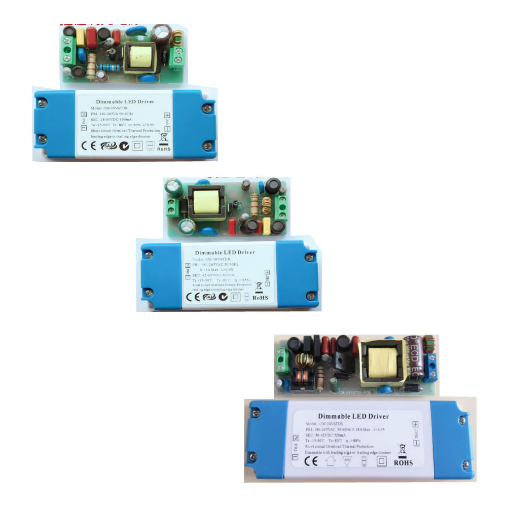 Dimmable with Leading Edge/Trailing Edge Dimmer Triac Dimming Led Driver Terminal Block for Wire Connection Output 300mA-1500mA