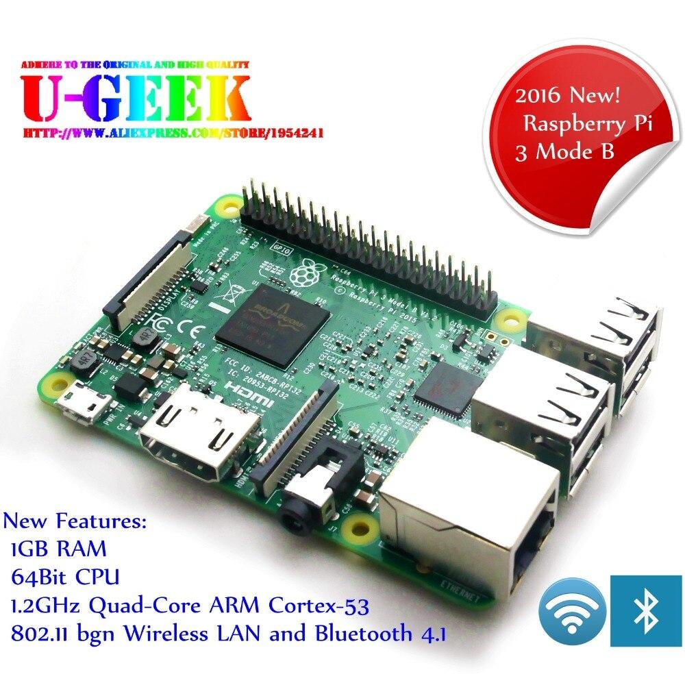 Element14 Framboise Pi 3 Modèle B 1 gb RAM Quad Core 1.2 ghz 64 bits avec WiFi et Bluetooth | Raspberry Pi 3B | 64bit | BCM2837