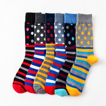 New womens colorful striped dot fashion high quality cotton casual socks 1 pairs