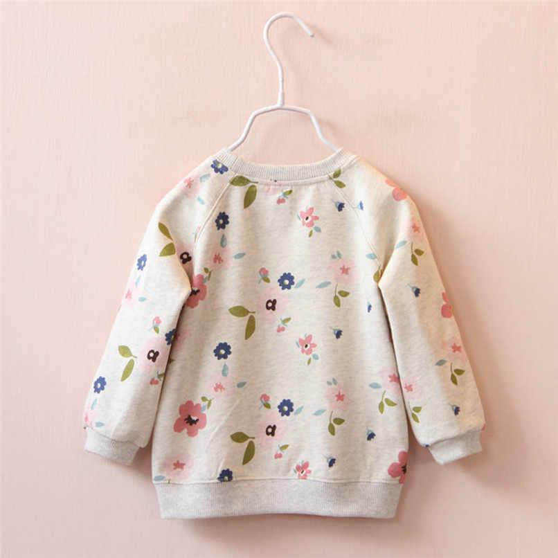 Camisetas de manga larga para niñas, de invierno 2018, camisetas para bebés y bebés, camisetas con estampado Floral, camisetas y blusas # YL1