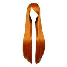 Женский косплей парик рыжего цвета, длина 80 см