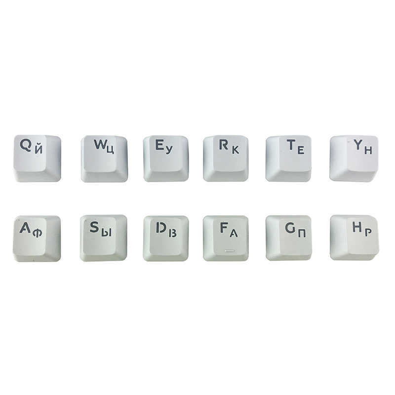 b72c6e0a53a ... Russian Keycaps for Mechanical Keyboard Compatible with MX Switches DIY  Replacement Transparent Support Led Lighting Keycaps ...