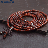 Genuine Natural Leaflets Sandalwood Bracelets Rice Buddha Beads Hand String Multi layer Wood Bracelet Fashion Jewelry