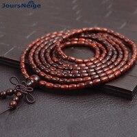 Genuine Natural Leaflets Sandalwood Bracelets Rice Buddha Beads Hand String Multi layer Wood Bracelet Fashion Jewelry