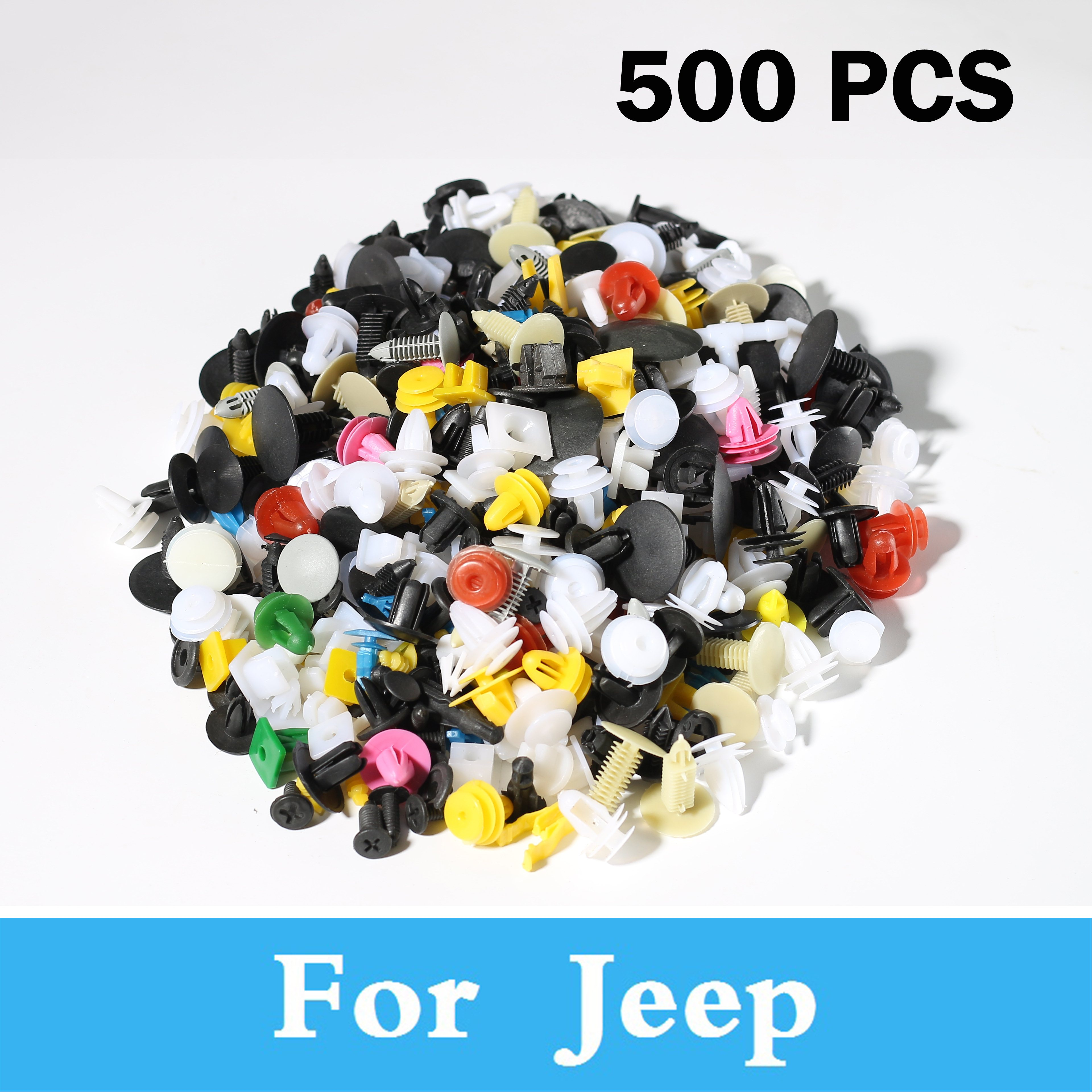 New 500pcs Mixed Car Styling Bumper Clips Retainer Rivet Decoration For Jeep Cherokee Srt8 Cherokee Cherokee Grand Compass Grand
