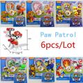 In Stock 6pcs/lot juguetes patrol Dogs Patrulla Canina Toys Puppy Patrol For Children Gift Brinquedos original box Kids toy