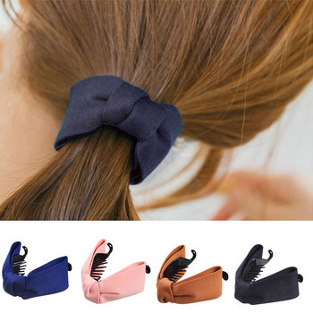 Fine Elegant Fabric Bow Knot Hairgrips Hair Claws For Women Girls Hairpin Hair Accessories