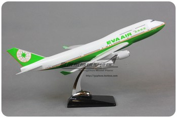 47cm Eva Airlines Airplane Model Boeing 747 Resin Taiwan Eva Air Aviation Model B747 Airway Aircraft Model Scale Toy Gift 1:100
