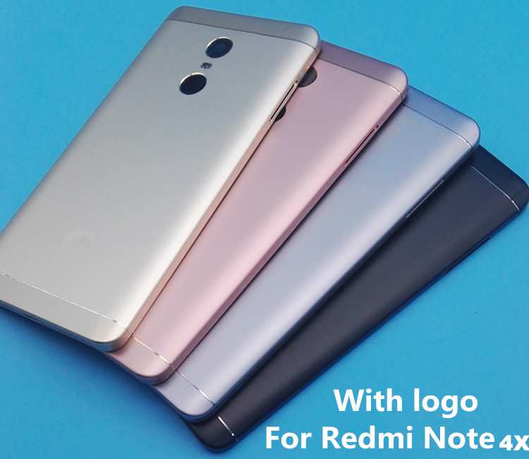 New For <font><b>Xiaomi</b></font> <font><b>Redmi</b></font> <font><b>Note</b></font> <font><b>4X</b></font> 32GB/64G (Snapdragon 625) Spare Parts <font><b>Back</b></font> Battery <font><b>Cover</b></font> + Side Buttons + Camera Flash Lens image