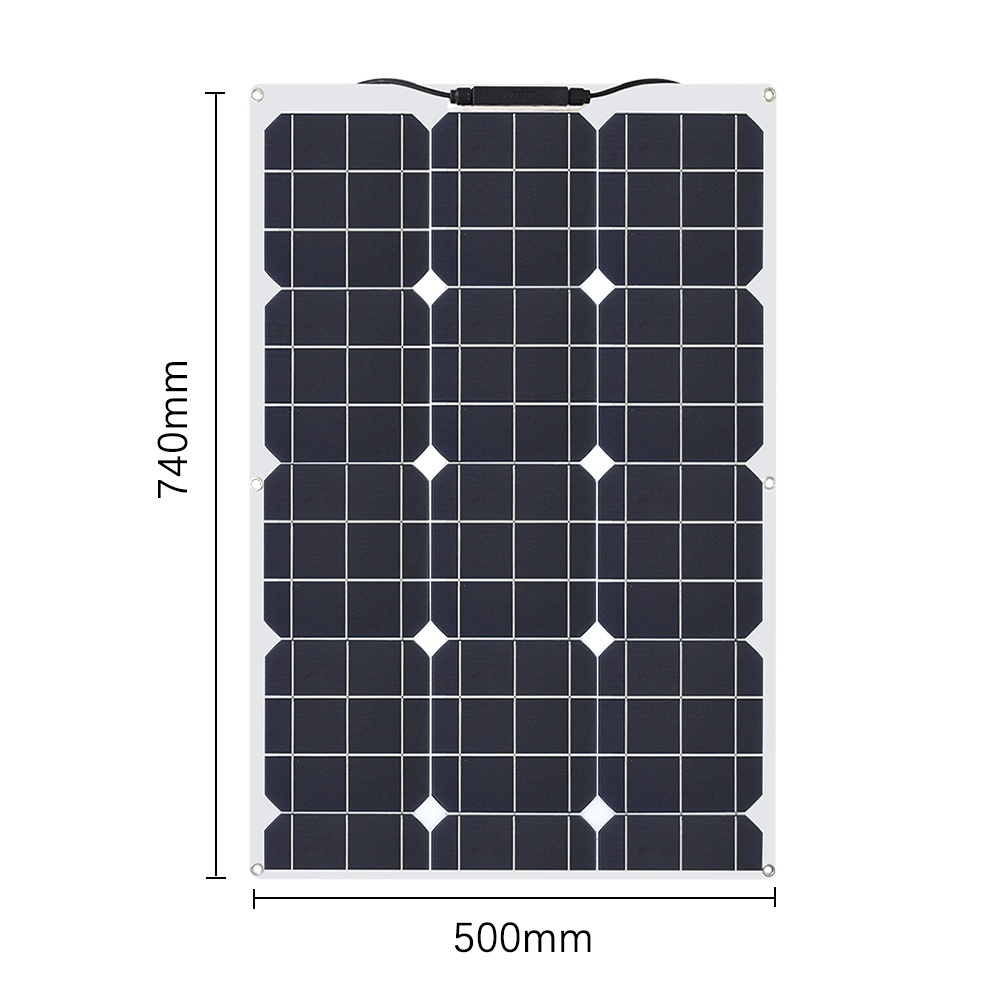 XINPUGUANG 60W 18V Flexible Monocrystalline Solar Panel 60w Cells For Car Truck Motorcycle Boat RV Camping