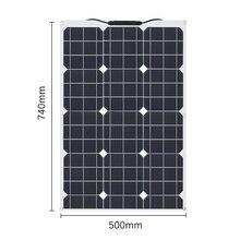 XINPUGUANG 60 Вт 18 в Гибкая монокристаллическая солнечная панель 60 Вт ячеек для автомобиля/грузовика/мотоцикла/лодки/RV/кемпинга/пешего туризма водонепроницаемый