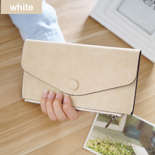 Matte Leather Women's Wallet Zipper Bag