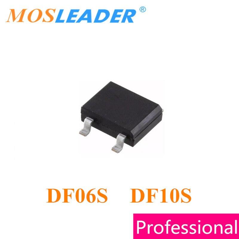 Mosleader DF06S DF10S SOP4 1500PCS 1A 800V 1KV 1000V DF06 DF10 Bridge recetifirer High quality