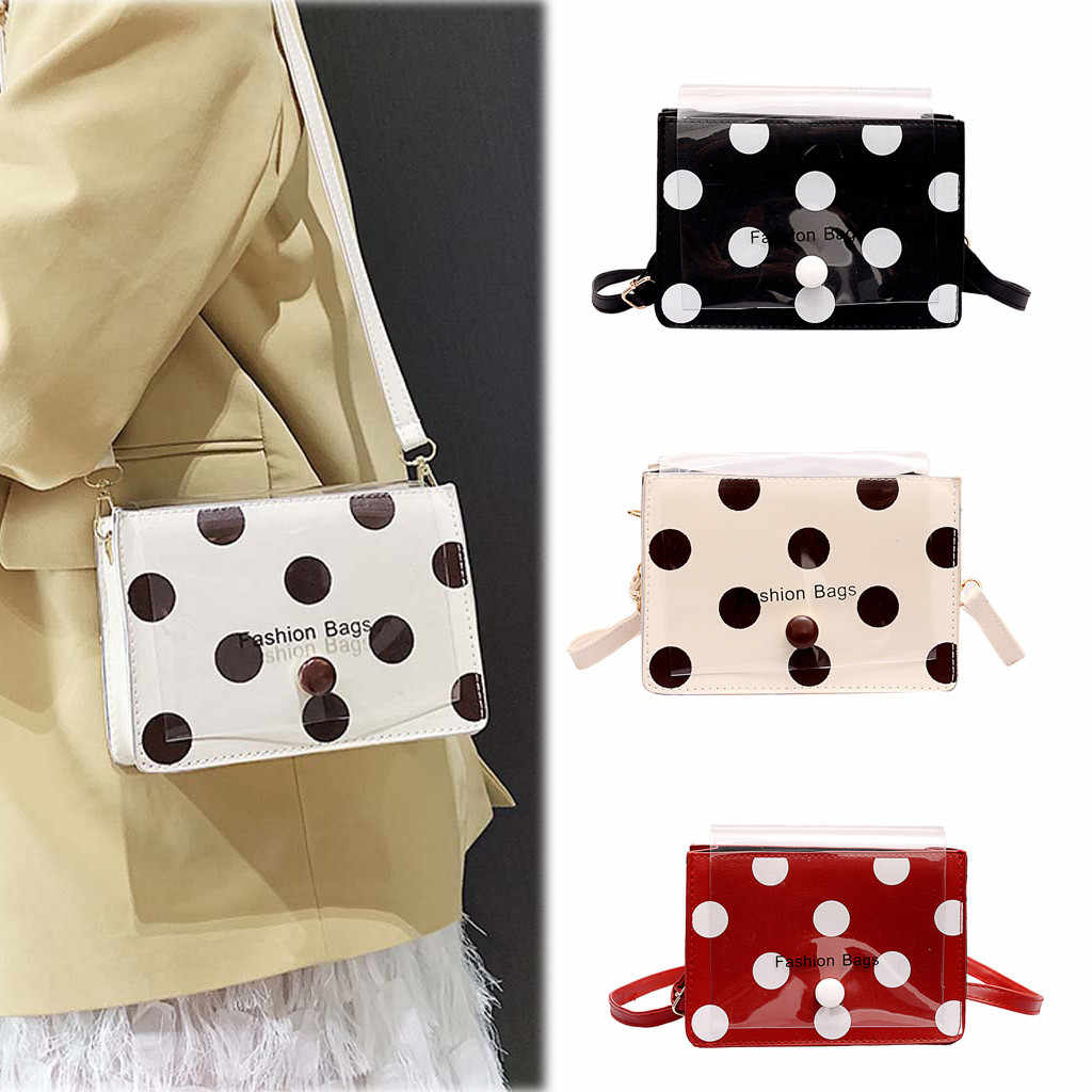 2019 Women crossbody bags Fashion designer handbags Solid Color Wave Point Messenger Bag Shoulder Bag Jelly Bag#BYY30