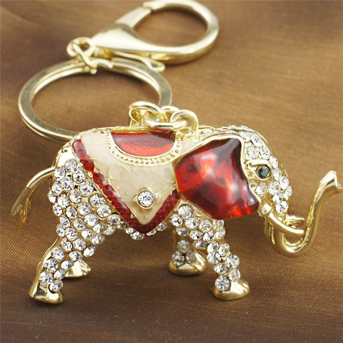 Elephant Crystal Keychains