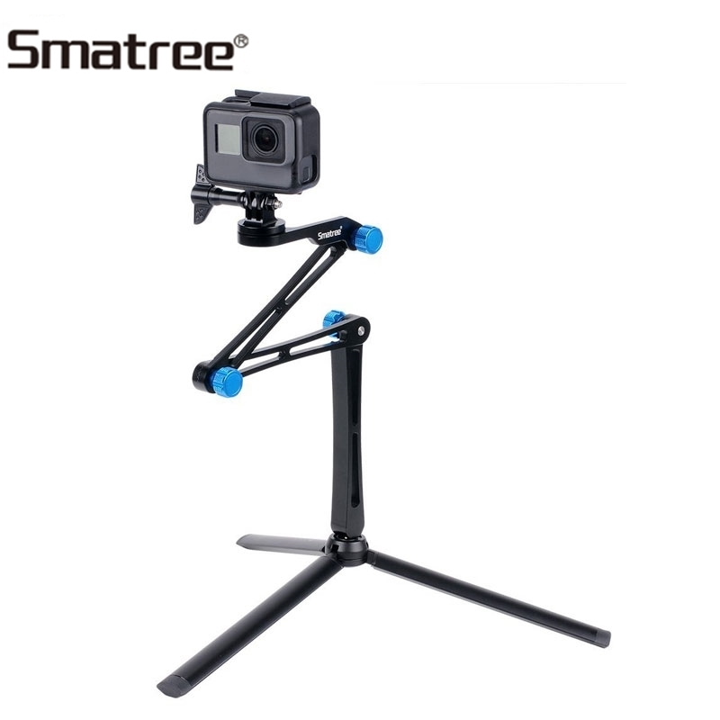 Smatree X1S For DJI OSmo Action Cameras Foldable Pole Monopod Sturdy Tripod For GoPro Hero 7