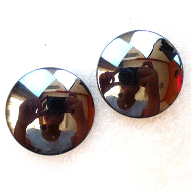 (2 pieces/lot) Wholesale Natural Hematite Round CAB CABOCHON 38x7mm Free Shipping Fashion Jewelry Z4860