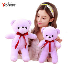32/42cm Cute Daddy Birthday Valentines Gift Scarf Baby Bear Wedding Plush Toy High Quality Bear Doll 5 Colors(China)