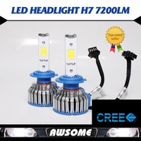 Zero Profit For Sales 2x H7 CREE COB LED 48W 7200LM Set Strong White Car Auto