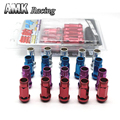 AMK racing--SR48 Auto Steel Acorn Rim Extended Open End Wheel Racing Lug Nuts With One Key M12X1.5 20pcs
