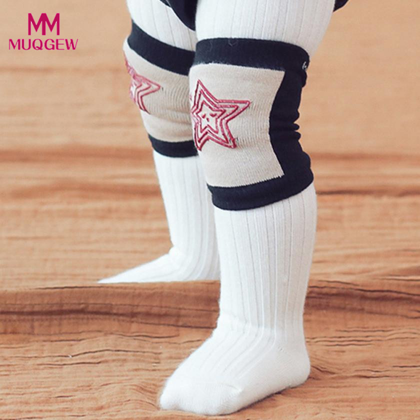 Fashion Star Pattern Baby Safety Crawling Elbow Cushion Socks Toddlers Boys Girls Knee Pads Protective Gear Kids Socks
