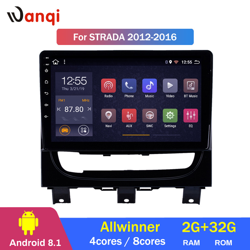 2G RAM 32G ROM 9 inch Android 8.1 Touchscreen Multimedia Player for 2012-2016 Fiat Strada GPS Navigation2G RAM 32G ROM 9 inch Android 8.1 Touchscreen Multimedia Player for 2012-2016 Fiat Strada GPS Navigation