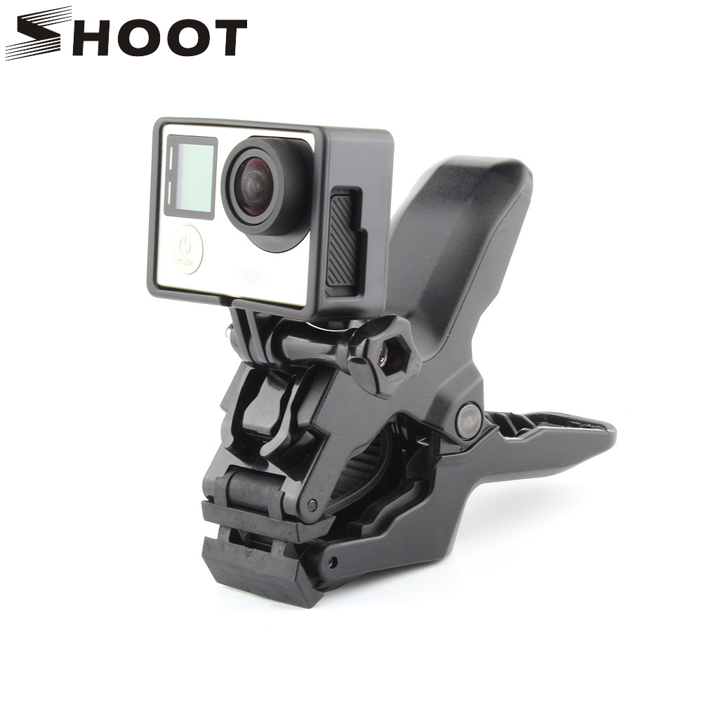 Portable Jaws Flex Clamp For Gopro Hero 5 4 Session 3 SJCAM SJ4000 SJ5000 M10 Xiaomi Yi 4K Camera Clamp Mount Gopro Accessories