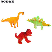 OCDAY 3Pcs DIY Funny Surprise Incubator Eggs Toy Hatching Growing Dinosaur Eggs Educational Toys Gift For Kids Children