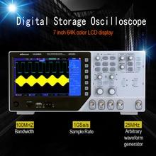Профессиональный Сертифицированный цифровой осциллограф Рабочий стол смешанный сигнал осциллограф 2 канальный произвольный функционал генератор сигналов