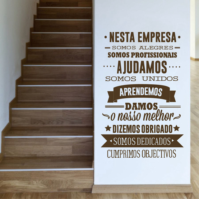 Aliexpresscom  Buy Portuguese Office Rules Vinyl Wall Stickers - Custom vinyl wall decals sayings for office
