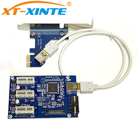 PCI E 1 To 3 Adapter Card PCI E PCI Express 1X 1 To 3 Port
