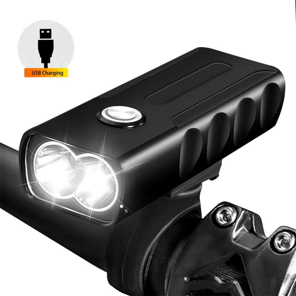 LED Bicycle Light 3 Mode T6 L2 Bike Lights 1000 Lumen USB Rechargeable Front Torch Waterproof Flashlight Lamp+Bike Mount sales hot sale 1800 lumen super bright xml t6 led bike light headlamp waterproof 3 mode led bicycle light flashlight