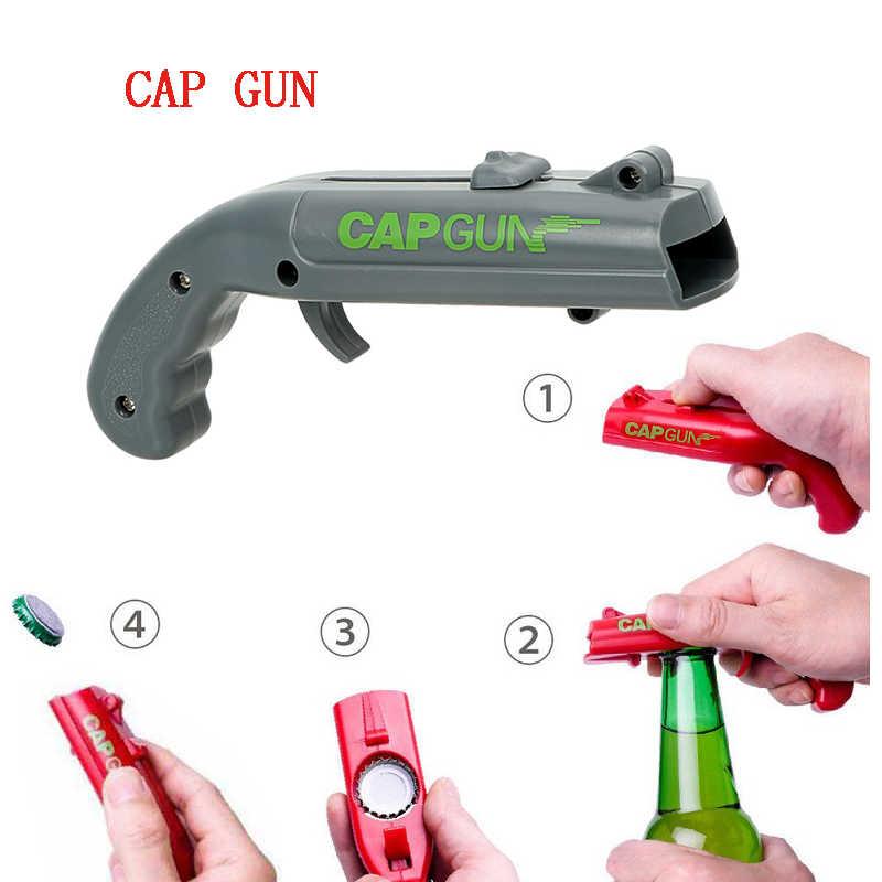 فتاحة الزجاجات غطاء بندقية البيرة فتاحة النبيذ decapsleur أبريدور capgun أبريدور دي cerveza فتاحة مفتاح زجاجات فتاحة سرعة