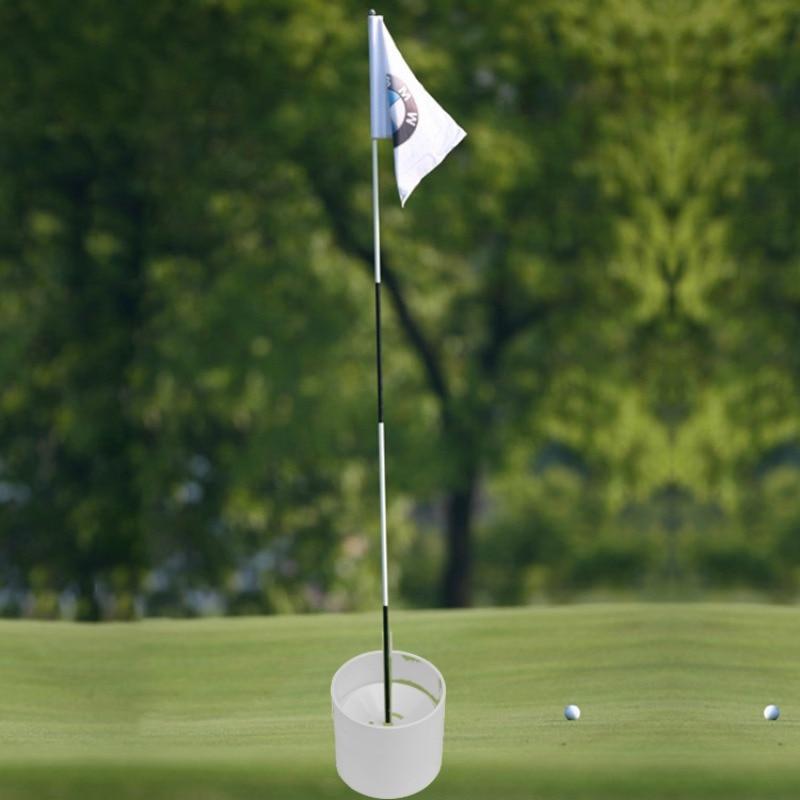 Golf Training Aids  Plastic Golf Hole Cup Putting Putter Golf Flag Stick Yard Garden Training Backyard Practice Putting White
