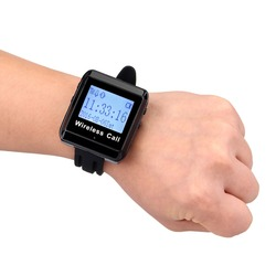 433MHz Watch Pager Receiver Waiter Call Pager Restaurant Wireless Calling System Restaurant Equipment F3258