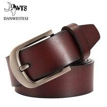 [DWTS] mode kuh echtes leder männer mode classice vintage stil männlich gürtel für männer dornschließe größe 125 cm