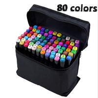 80colors Artist Double Headed Sketch Copic Marker Set 30 40 60 80 Colors Alcohol Based Manga