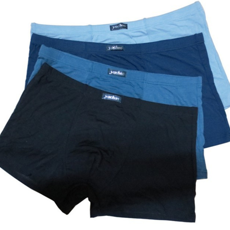 Best Gift For Sexy Mens Pure Color Boxer Shorts Men's Soft Bamboo Fiber Underwear 3pcs/lot