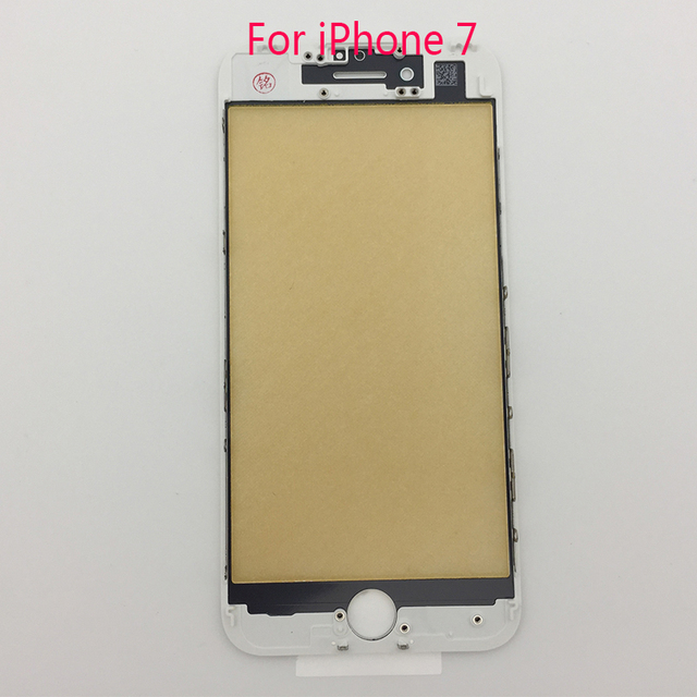 Grand A Quality Front Glass Lens Bezel Frame Assembly for iPhone 7 Outer Screen Touch Panel Repair Replacement for iPhone 7