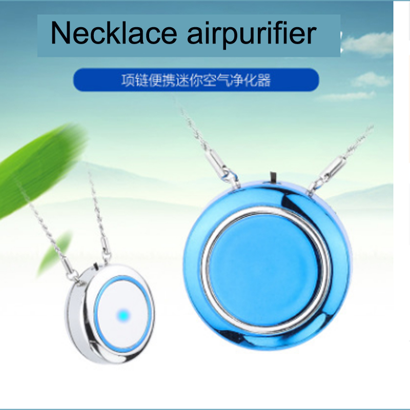 Newest Air Purifier USB portable personal wearable necklace negative ionizer Anion air purifier Air cleaner Air Freshener-in Air Purifiers from Home Appliances