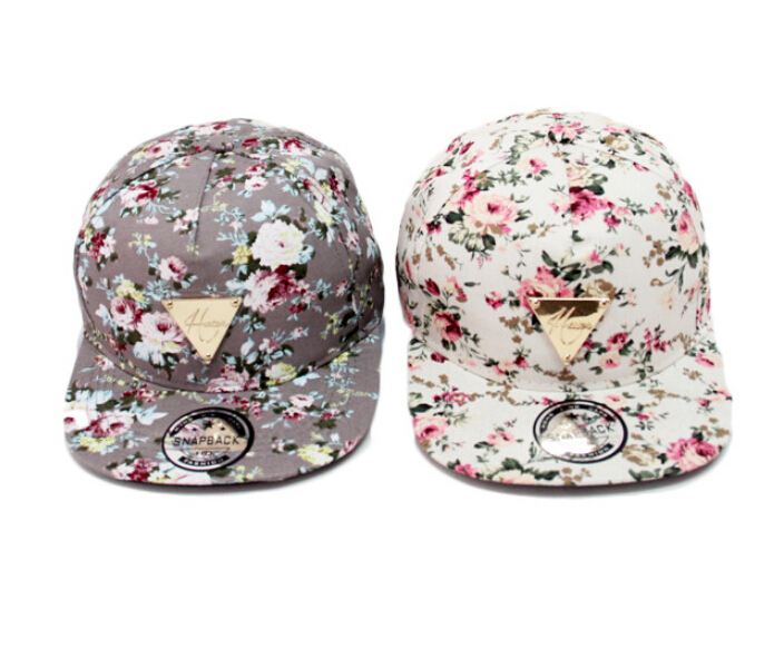 Celebrities 2014 New Hater Series Floral Print Snapback Hats Women 's Baseball Caps Sun Hip Hop - Nancy Skullies&Beanies store