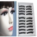 10 Pairs Fashion Women Makeup Natural Thick False Eyelashes Eye Lashes Extension