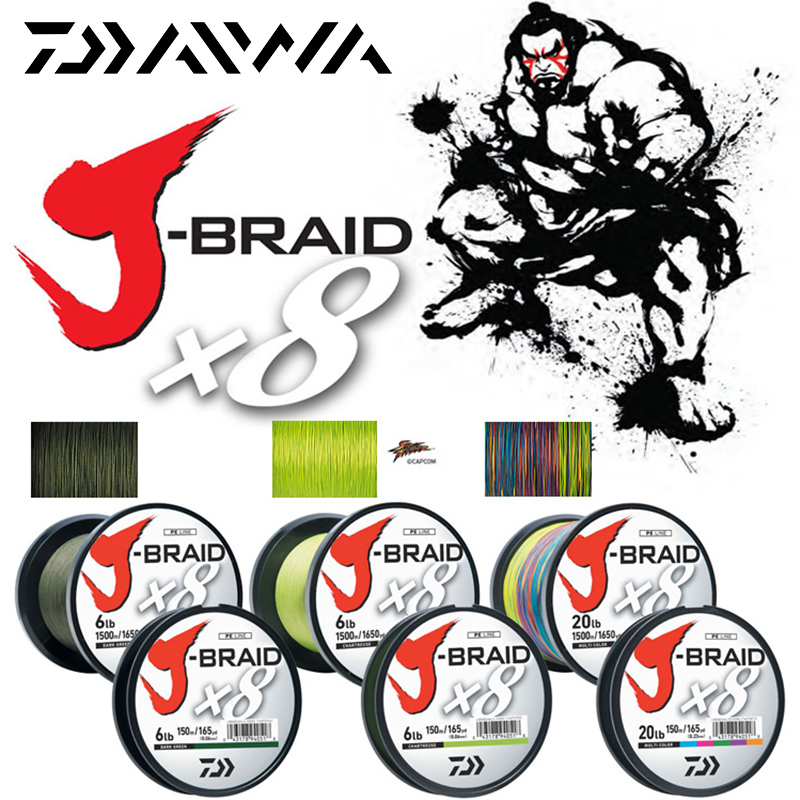 Daiwa J-BRAID 8A 150M original green/grass green color 8 braided fishing line monofilament fishing line 10-60lb made in japan lm64c142 industrial lcd original made in japan a in good condition