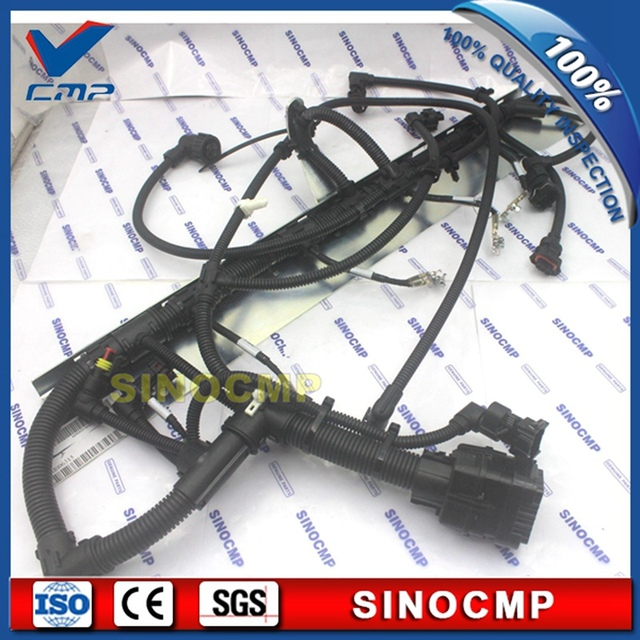 ec210 ec210b injector wiring harness 2243151 2206826, wire cable for volvo  excavator
