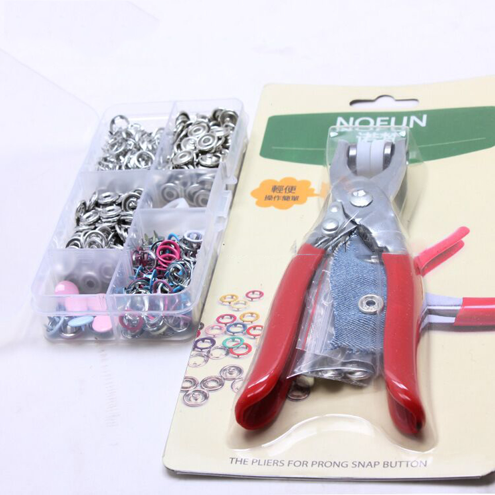 100sets+setting tool baby layette suit snap button set DIY sewing clothes hardware accessories mulit color
