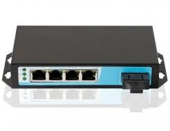 switch poe 4 port Gigabit with Dual Fiber, 4 Port Gigabit PoE Ports and 1 Single Fiber Uplink Bandwidth:10Gbps fiber poe switch with 4 rj45 gigabit port for ip camera cctv camera 1 pair