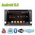 Car Electronics Android 6.0 2 din Universal de DVD Del Coche de Vídeo Reproductor Multimedia de Navegación GPS de Audio Estéreo de Radio, Bluetooth, SWC TV