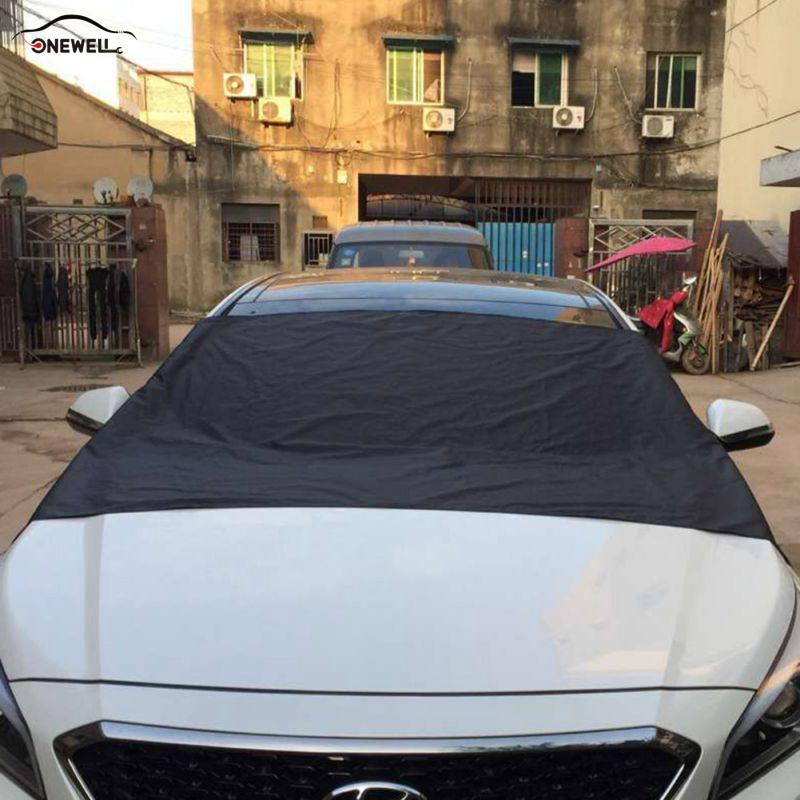 ONEWELL Anti Schnee Frost Eis Schild Auto Brise Cover Universal Schutz Sonnenschutz Auto Windschutzscheibe Protector