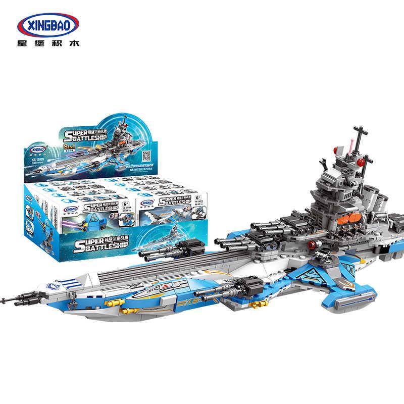 Набор линкоров XINGBAO Universe, игрушки для детей, 8 в 1, набор моделей, строительные блоки, кирпичи, подходят для Lepining, Звездные войны, подарки DIY