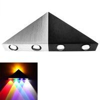 ITimo Moderna Lâmpada de Parede de Alumínio Triângulo LEVOU Para Casa Iluminação Decoração Do Partido Atmosfera de Luz Luz Colorida Ao Ar Livre Indoor
